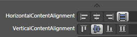 Header Content Alignment