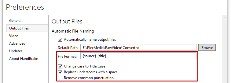Automatic File Naming